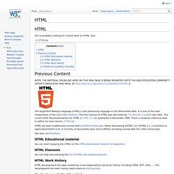 HTML - W3C Wiki
