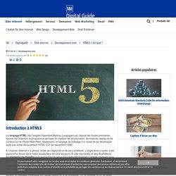 HTML5, c'est quoi ? - 1&1