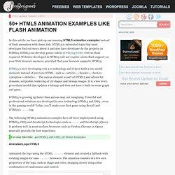 50+ HTML5 Animation Examples Like Flash Animation
