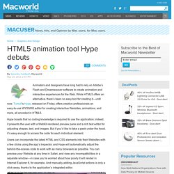 HTML5 animation tool Hype debuts