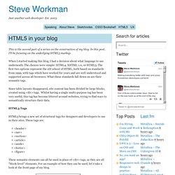 HTML5 in your blog