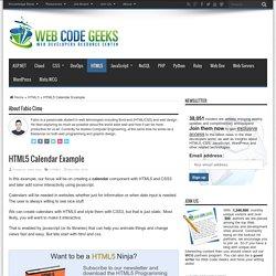 HTML5 Calendar Example