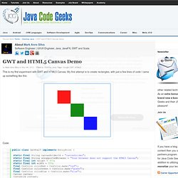 GWT and HTML5 Canvas Demo