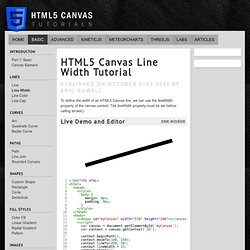 HTML5 Canvas Line Width Tutorial
