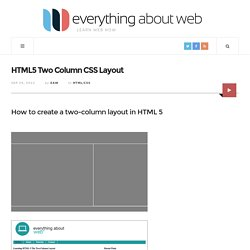 HTML5 Two Column CSS Layout