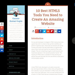 10 Best HTML5 Tools You Need to Create An Amazing Website