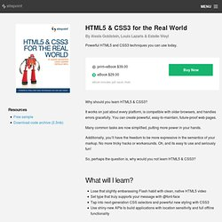 Home - HTML5 & CSS3 for the Real World