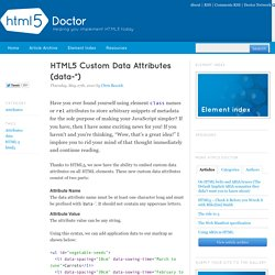 HTML5 Custom Data Attributes (data-*)