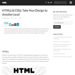 HTML5 & CSS3: Take Your Design to Another Level | Tips