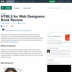 HTML5 for Web Designers: Book Review