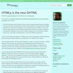 HTML5 is the new DHTML - The Easy Designs Blog
