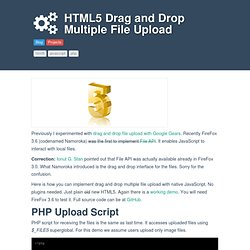 HTML5 Drag and Drop Multiple File Upload