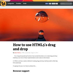 How to use HTML5′s drag and drop