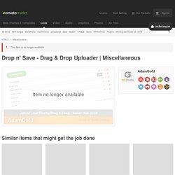 HTML5 - Drop n' Save - Drag & Drop Uploader