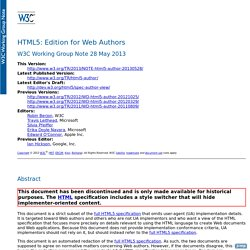 HTML5: Edition for Web Authors