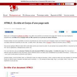 HTML5 : En-tête et Corps d'une page web