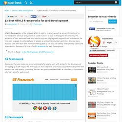 12 Best HTML5 Frameworks for Web Development