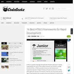16 Best HTML5 Frameworks for Rapid Development