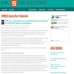 HTML5 Game Dev Tutorials