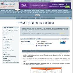 HTML5 : le guide du débutant