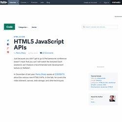 HTML5 JavaScript APIs
