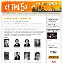 HTML5 Live Conference