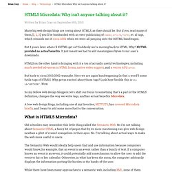 HTML5 Microdata: Why isn't anyone talking about it?