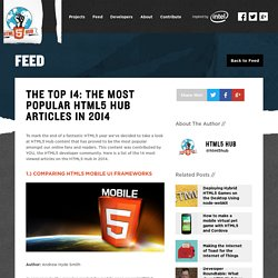 The Top 14: The Most Popular HTML5 Hub Articles in 2014