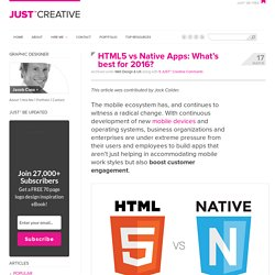 HTML5 vs Native Apps: What's best for 2016?