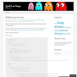 HTML5 pour les nuls.