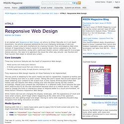 HTML5 - Responsive Web Design