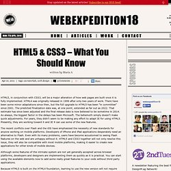 HTML5 & CSS3 – What You Should Know
