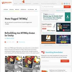 """Tag """"HTML5"""" on Smashing Magazine"""