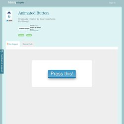 HTML5 snippet : Animated Button