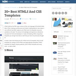 20+ Best HTML5 And CSS Templates