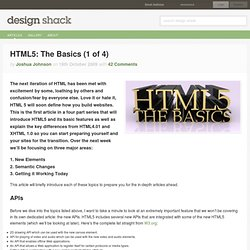 HTML5: The Basics (1 of 4)