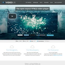 HTML5 Video Player | VideoJS