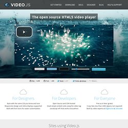 HTML5 Video Player | Video.js