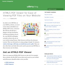HTML5 PDF Viewer for Ease of Viewing PDF Files on Websites