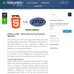 HTML5 vs PHP - What's Best for Your Business Website?
