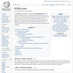 HTML5 video