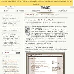 Le plus beau site HTML5 of the World - Fatras