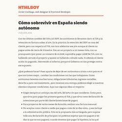 Cómo sobrevivir en España siendo autónomo - htmlboy