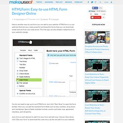 HTML Form Designer Online