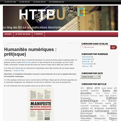 Humanités numériques : prêt(sque)