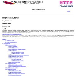 HttpClient Tutorial