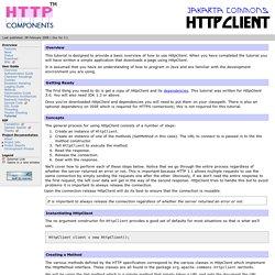 HttpClient - HttpClient Tutorial