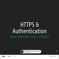 https & authentication in node.js by Jeroen Moors