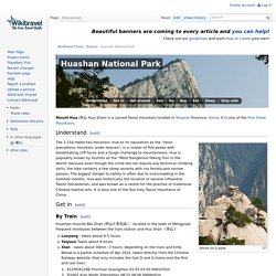 Huashan National Park travel guide