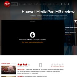 Huawei MediaPad M3 review - CNET